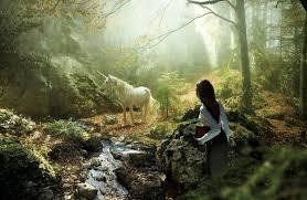 fantasy unicorn trees forest